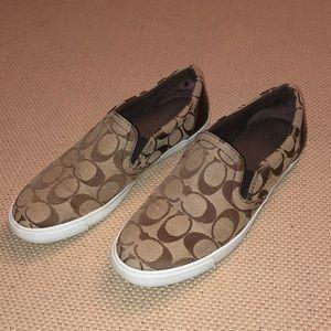 Coach Khaki Alegra Slip On Sneakers